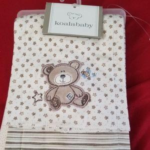 Koala Baby Teddy Bear Burp Cloths